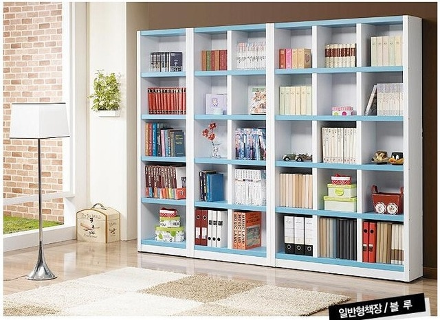 A blue large bookcase bookshelf-in Bookcases from Furniture on