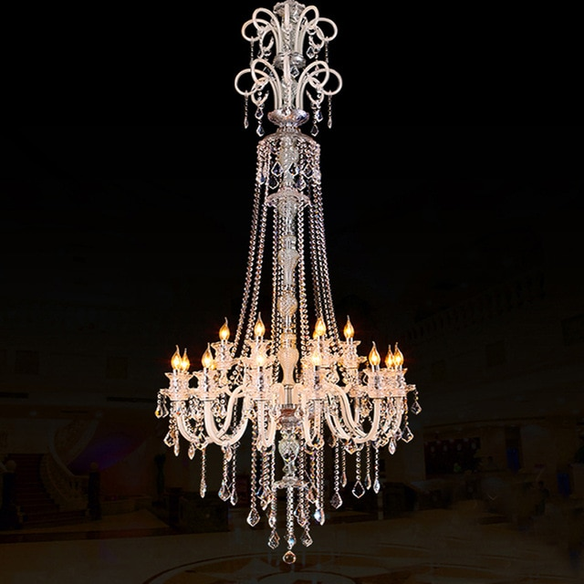 large modern crystal chandelier for high ceiling extra large