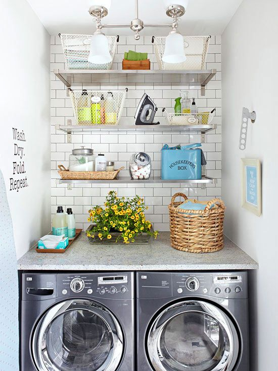 Small-Space Laundry Room Storage in 2019 | Happy Home | Pinterest