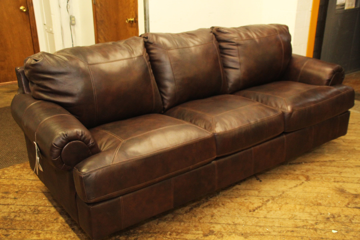 Ashley Brown Leather Sofa u2013 Pittsburgh Furniture Outlet
