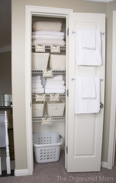 20 Beautifully Organized Linen Closets | The Happy Housie