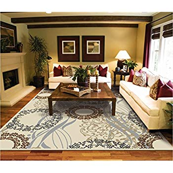 Amazon.com : Modern Rugs For Living Room Cream Rug 5 by 8 rug luxury
