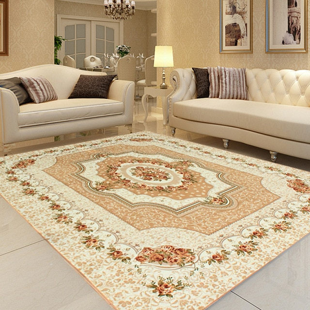 Honlaker 200x240CM Carpet Living Room Large Classic European Rugs