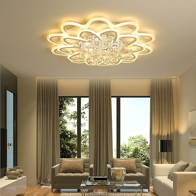 Led crystal ceiling lamp For Living room Bedroom Kitchen Sitting