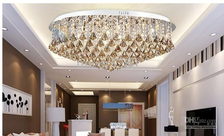 Luxurious Living Room Lamp Modern Crystal Lamp Ceiling Lighting