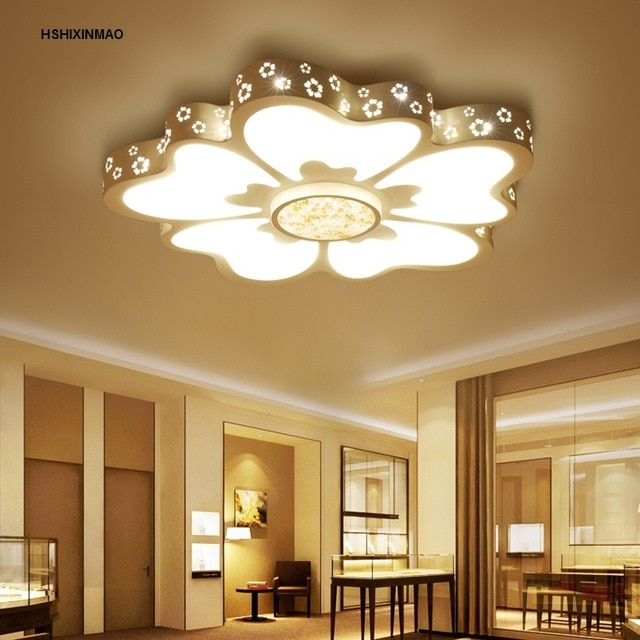 Ultra thin new flower style living room ceiling lamp modern simple