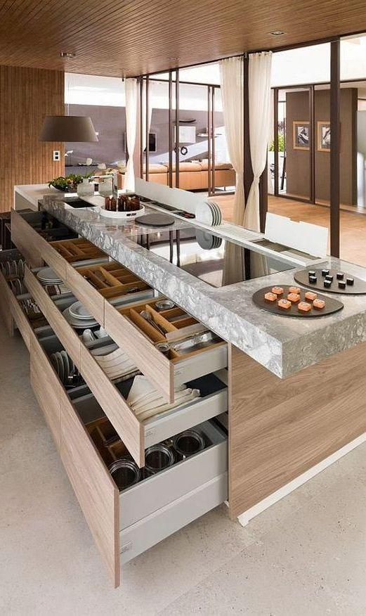 21 Stunning Luxurious Kitchen Designs | Kitchens | Pinterest