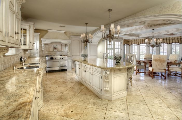 luxury kitchen /// super-size; I wouldn't want to mop !   Kitchen
