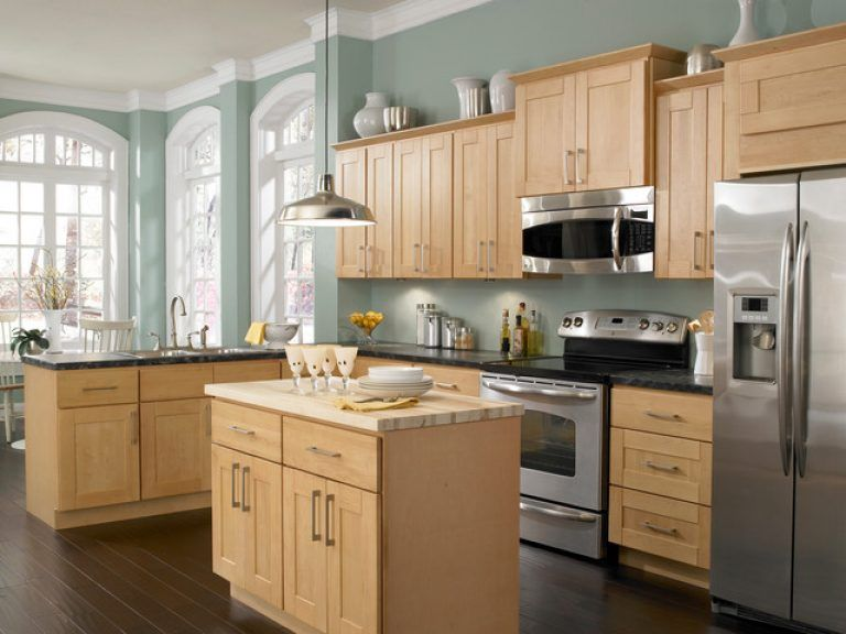 Natural Maple Kitchen Cabinets Paint Color With Maple Cabinets