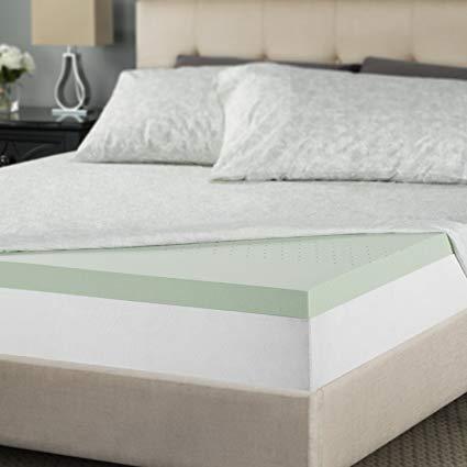 Amazon.com: Zinus 2 Inch Green Tea Memory Foam Mattress Topper, Twin