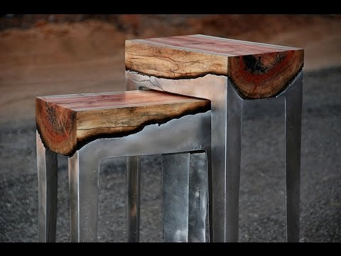 100 Cool Ideas! METAL FURNITURE! - YouTube
