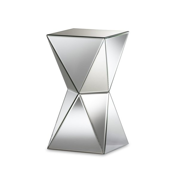 Shop Rebecca Contemporary Multi-Faceted Mirrored Side Table - Free