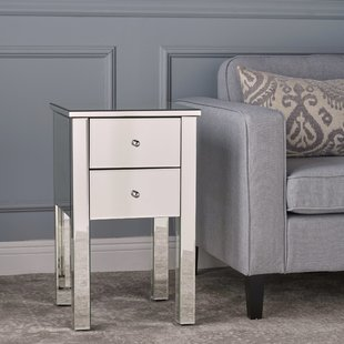 Faceted Mirror Side Table | Wayfair