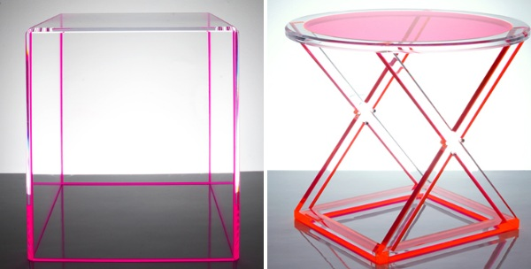 Furniture: Gus Modern Acrylic I Beam Table, Acrylic Furniture