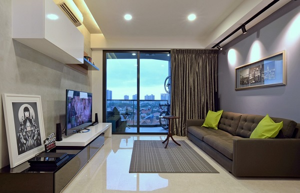 Modern Apartment Design in Singapore | Home Design, Garden