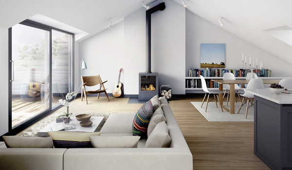 Retro Modern Apartment Design