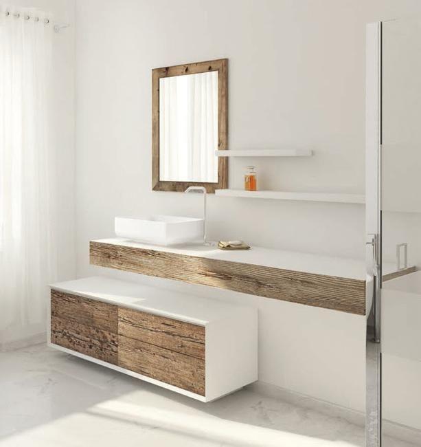Beautiful Weathered Wood, Bathroom Furniture | Camper/RV Interior