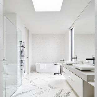 Black And White Modern Bathroom Ideas | Houzz