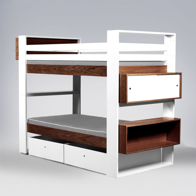 ducduc - austin Bunk Bed - Wood - Modern - Kids Beds - by 2Modern
