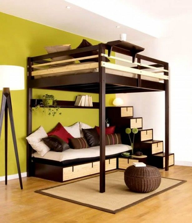 Bedding, Modern loft bed with couch bunk beds for kids with desks