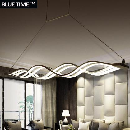 Wave design Chandelier for dinning room Black White chandelier
