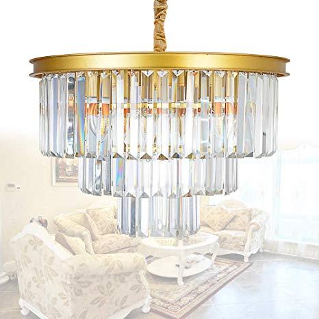 Amazon.com: MEELIGHTING Crystal Gold Modern Chandeliers Lights