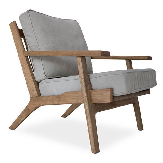 Beckett Mid-Century Modern Beige Linen Club Chair | Zin Home
