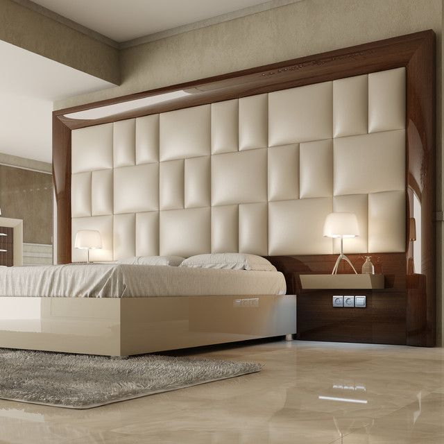 Modern Headboards Options to Increase   Practicality of Your Bed