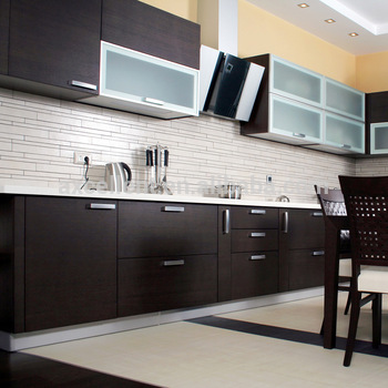 Affordarble Modern Two Color Combination Modular Kitchen Cabinets