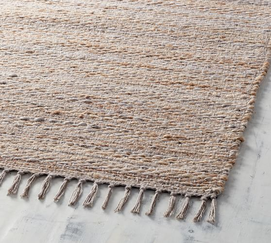 Byron Natural Fiber Rug - Gray Multi | Pottery Barn
