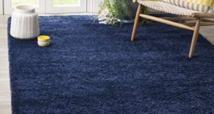 Amazon.com: Safavieh Milan Shag Collection SG180-7070 Navy Area Rug