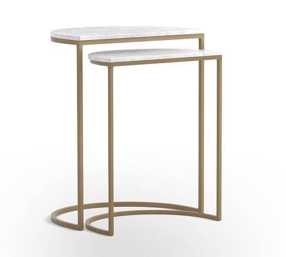 Marla Marble Nesting Tables | Pottery Barn