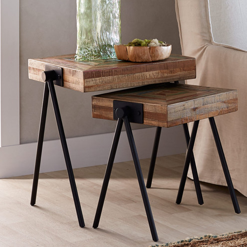 Colorful Wooden Nesting Tables - Home Décor | VivaTerra