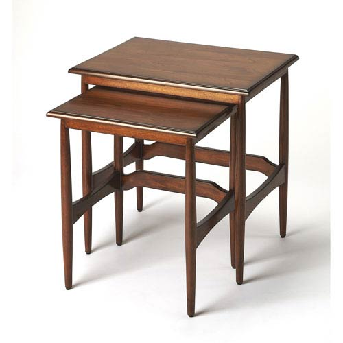 Butler Specialty Company Bryant Mid Century Modern Nesting Tables