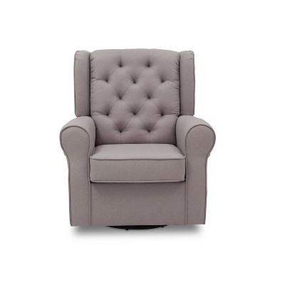 Delta Children Emma Nursery Glider Swivel Rocker Chair - French Gray