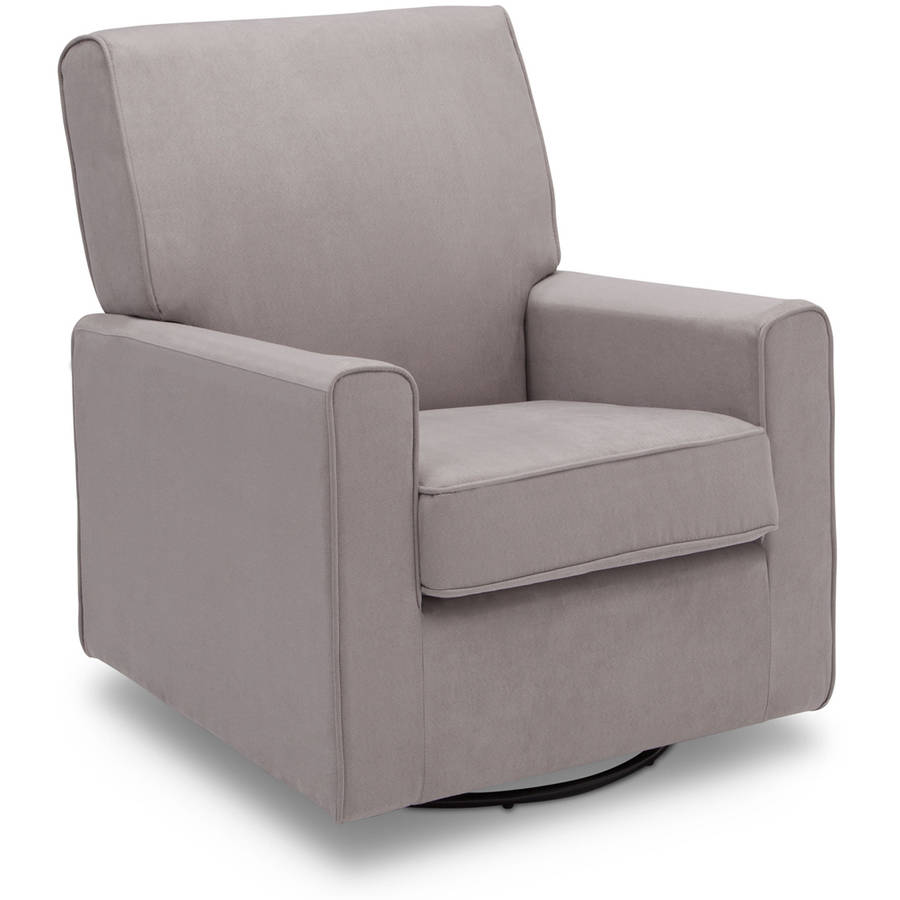 Delta Children Ava Nursery Glider Swivel Rocker Chair, Dove Grey