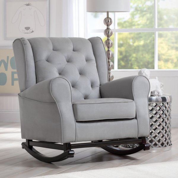 Shop Delta Children Emma Nursery Rocking Chair, Dove Grey - Free