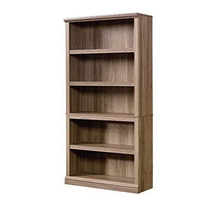 Amazon.com: EFD Salt Oak Bookcase 5 Shelves Brown Wooden Modern