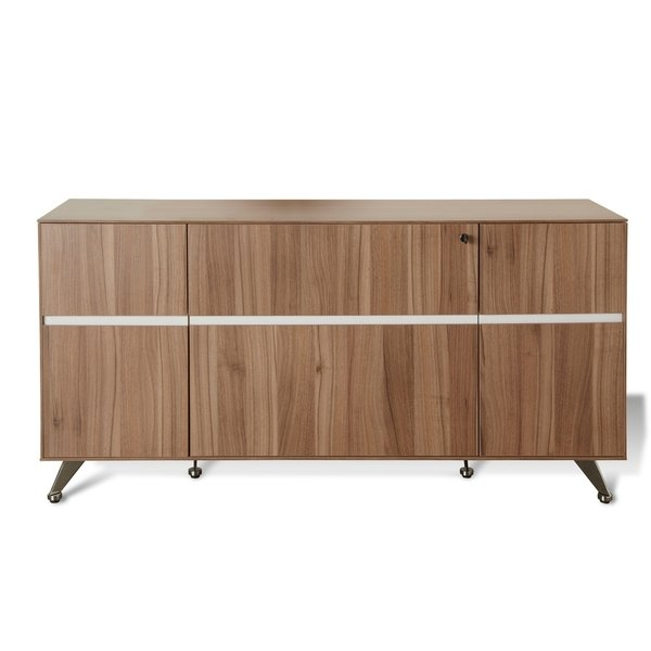 Shop Walnut Professional Storage Office Credenza - Free Shipping
