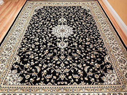 Amazon.com: Black 8x11 Persian Rug Oriental Rugs 8x10 Area Rug