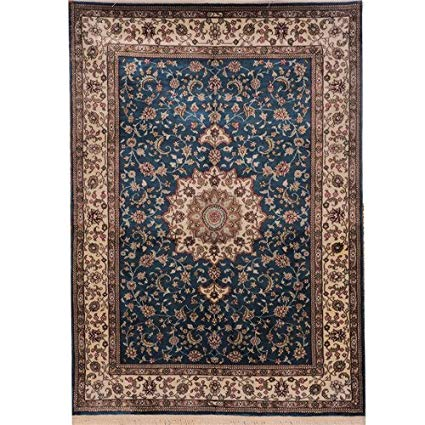 Amazon.com: Yilong 84x122cm Blue Persian Rugs for Home Handmade