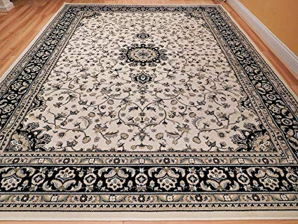 Amazon.com: Large 8x11 Ivory Persian Traditional Style Rug Oriental