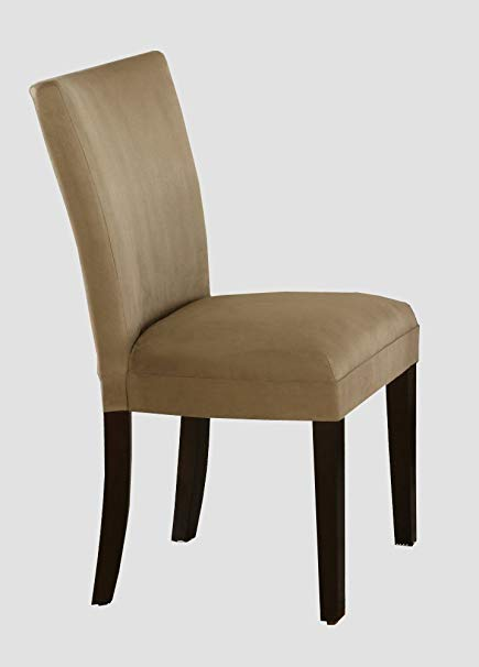 Amazon.com - Set of 2 Taupe Microfiber Parson Chairs - Chairs