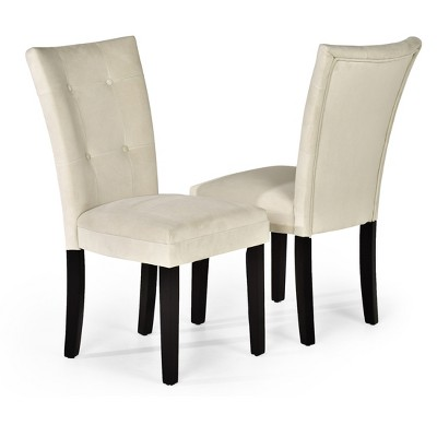 Margo Microfiber Parsons Chairs Wood/Beige (Set Of 2) - Steve Silver