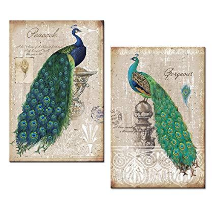 Amazon.com: Peacock Canvas Art Prints, Peacock Canvas Wall Art Home