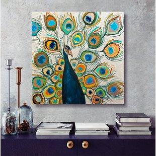 Peacock Wall Art You'll Love | Wayfair