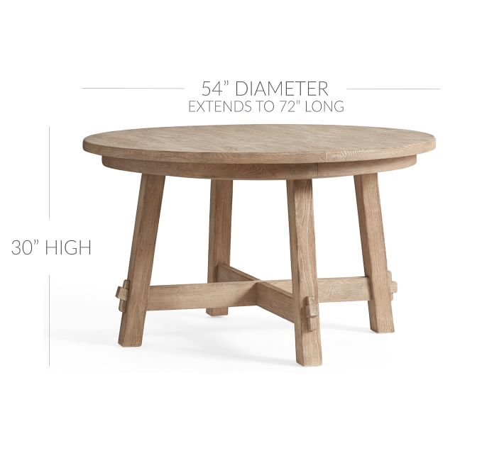 Toscana Extending Pedestal Dining Table, Seadrift | Pottery Barn