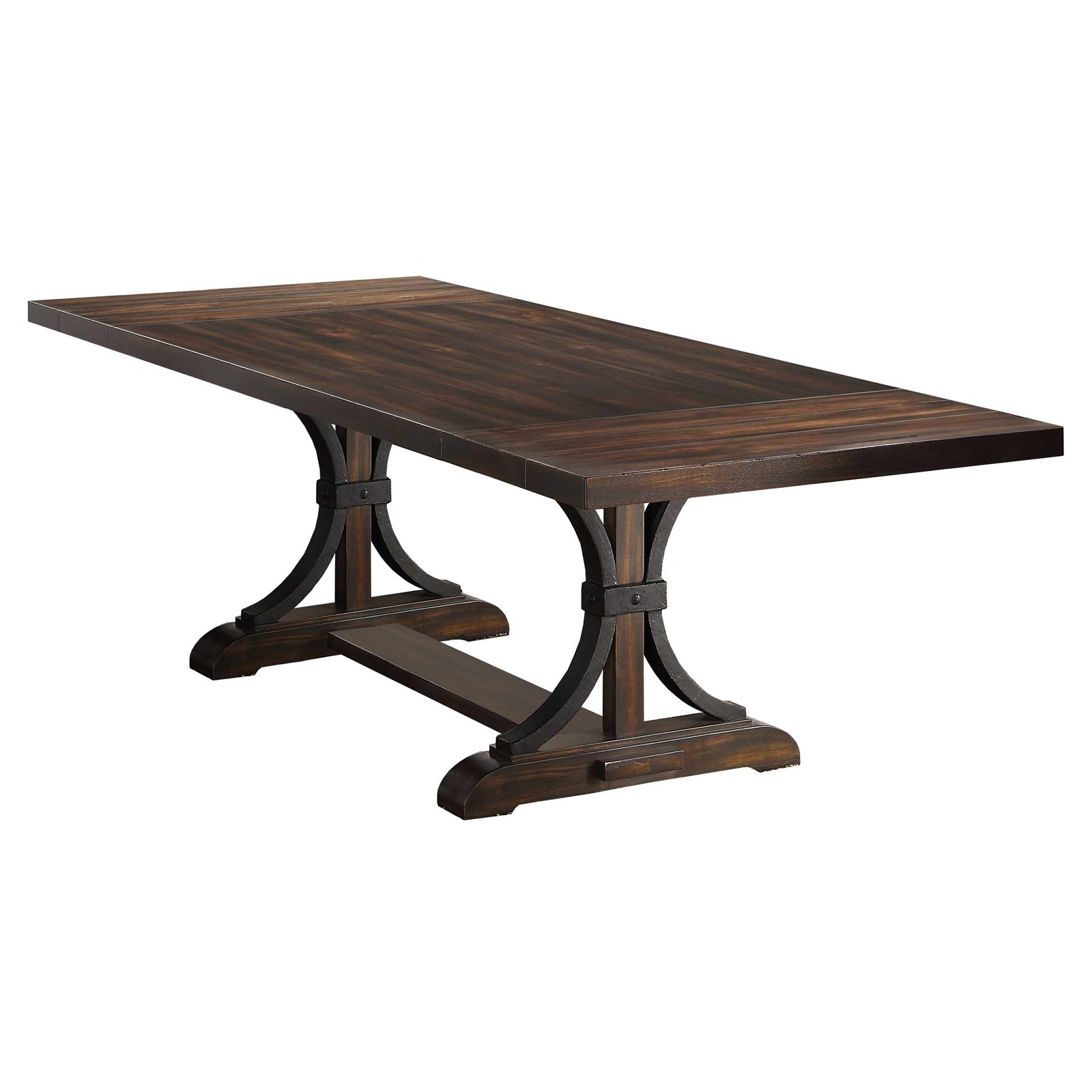 Winners Only 102 in. Pedestal Dining Table with Extension Leaves