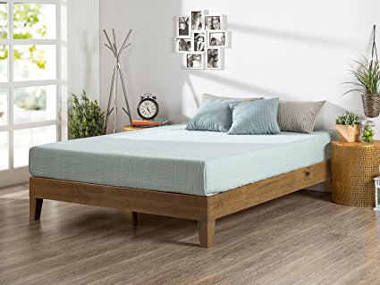 Amazon.com: Zinus Alexis 12 Inch Deluxe Wood Platform Bed / No Box