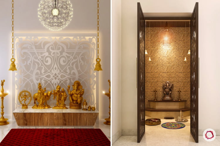 Pooja Room Designs That Shine Through and Look Brilliant
